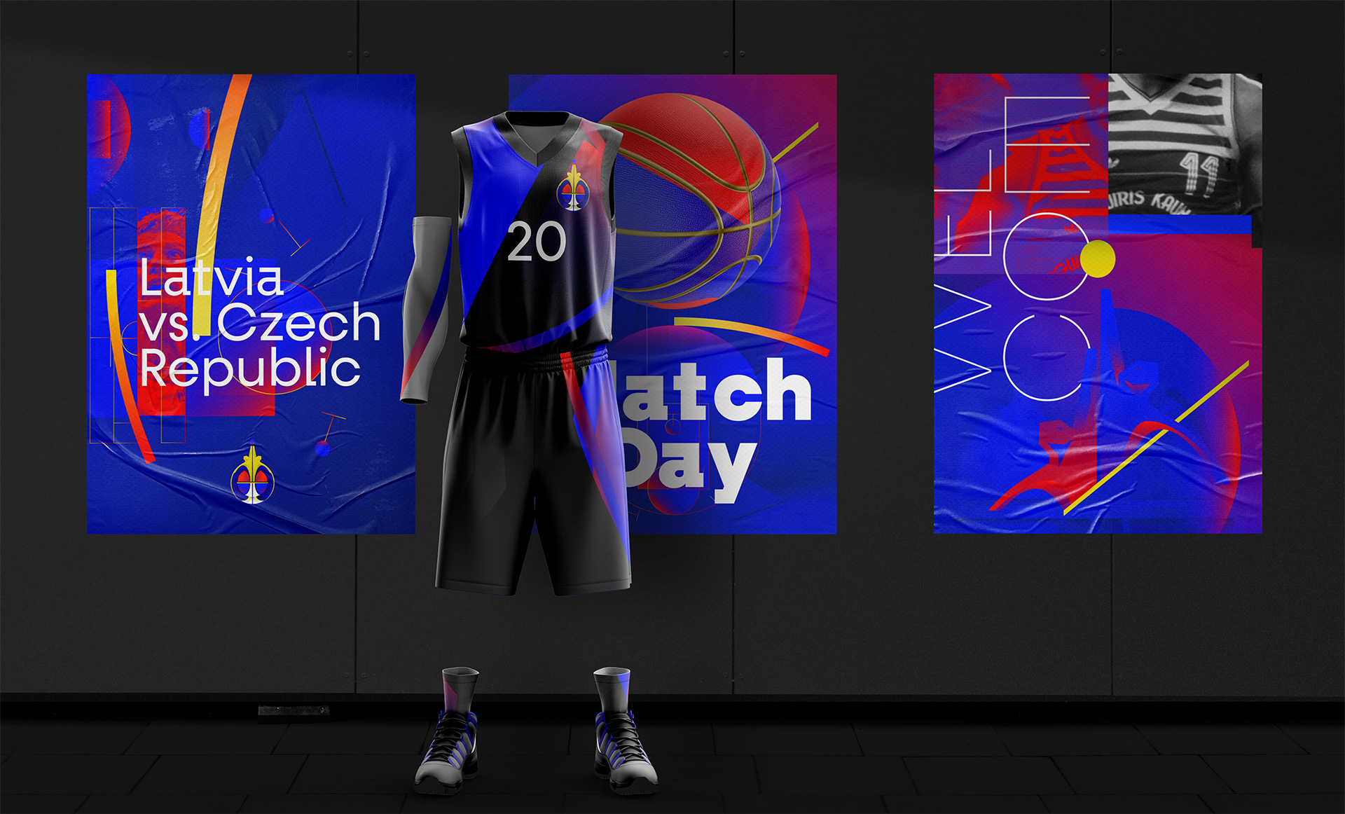 European Basketball Championship Tournament identity branding by Guapo Design Studio